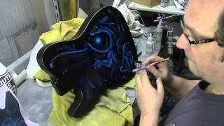 Atelier Meijer - airbrush of a dragon guitar