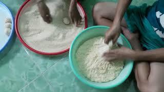 Công Đoạn Làm Bánh Bao Chiên & Bánh Tiu .& Cái Kết