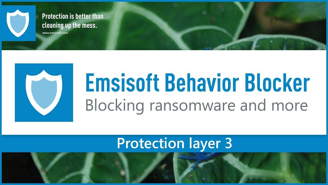 Emsisoft Behavior Blocker vs Ransomware - YouTube