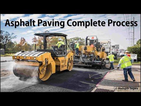 Asphalt paving complete process