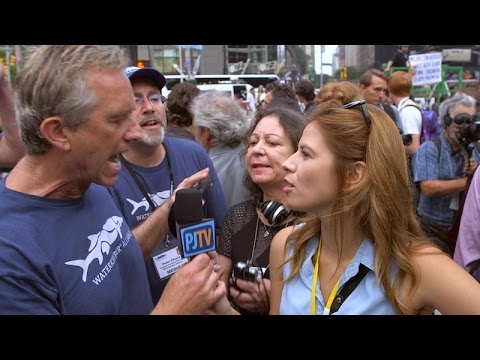 Kennedy Jr. Loses Cool at Climate Rally; Gets Handsy w/ PJTV's Michelle Fields When She Corners Him