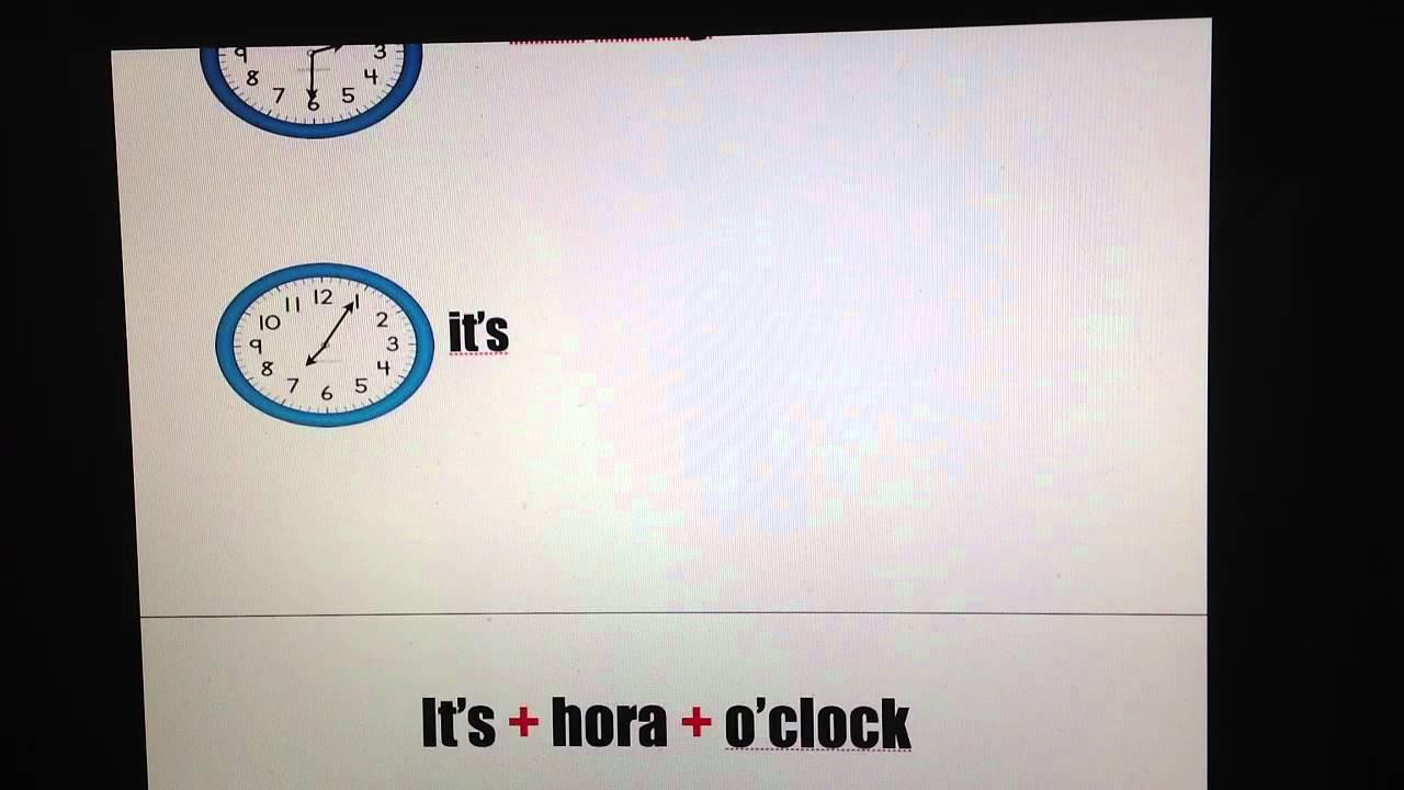 Como Se Escribe En Ingles Hora Del Recreo