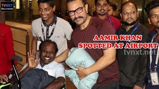 Aamir Khan Spotted at Mumbai Airport   Bollywood Latest Updates   TVNXT Bollywood