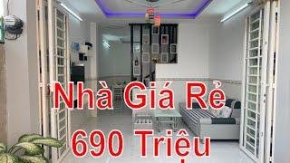 Bán Nhà Bình Chánh - Nhà giá rẻ 690 Triệu Full nội thất cho hộ gia đình thu nhập thấp