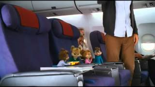 Alvin superstar imbarco nell'aereo