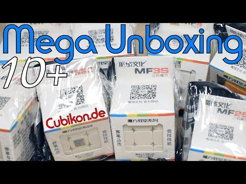 Mega Unboxing 10+ (MF Series + Extra Cubes) | Cubikon.de | German