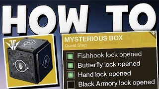 Destiny 2 - HOW TO OPEN MYSTERIOUS BOX   Fishhook Lock & More Guide !!