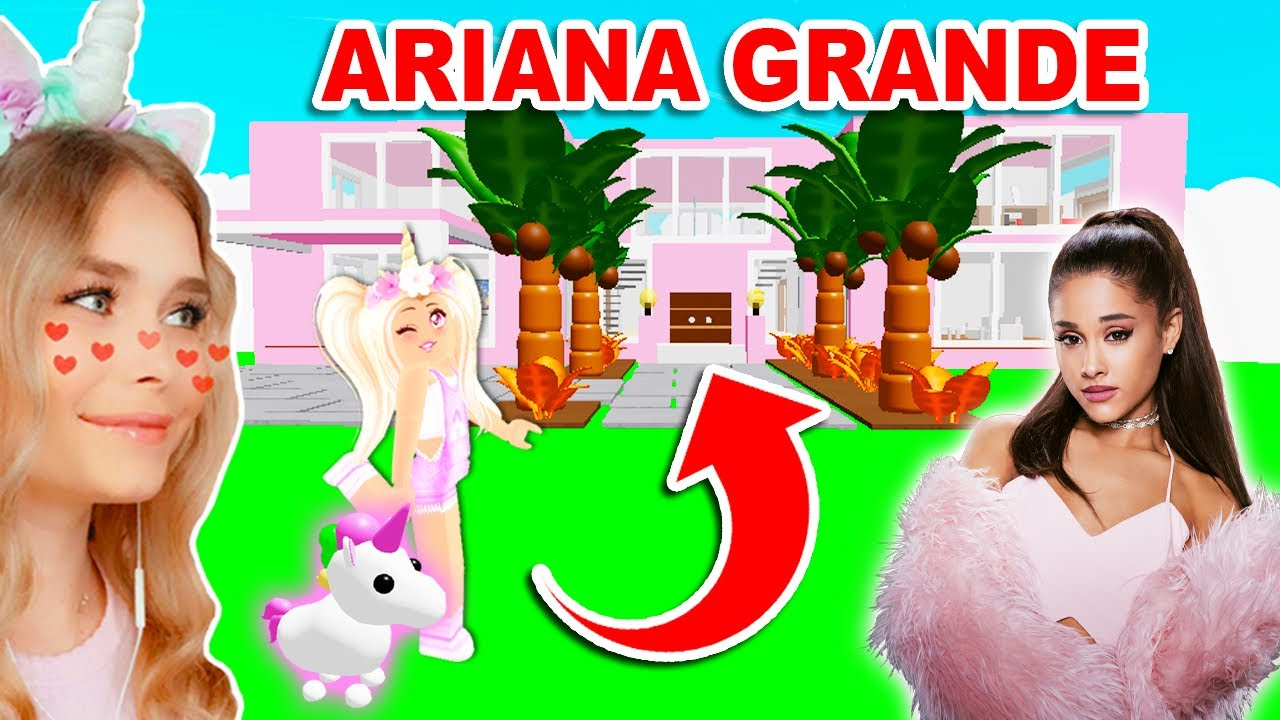 Building ARIANA GRANDES MANSION In Adopt Me! (Roblox)