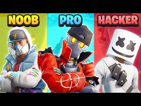 HACKER vs PRO vs NOOB - Fortnite (UNMÖGLICH)