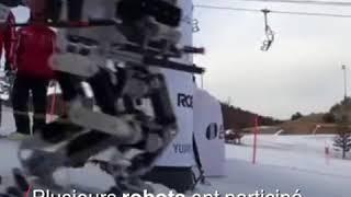 En Corée, les robots aussi chaussent les skis