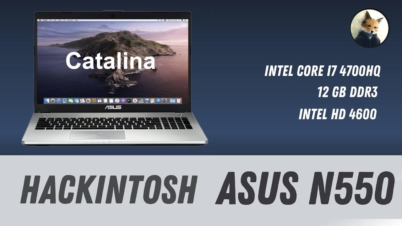 Asus N550 hackintosh Catalina / Mojave - Как установить   How to install  Hackintosh on Asus N550