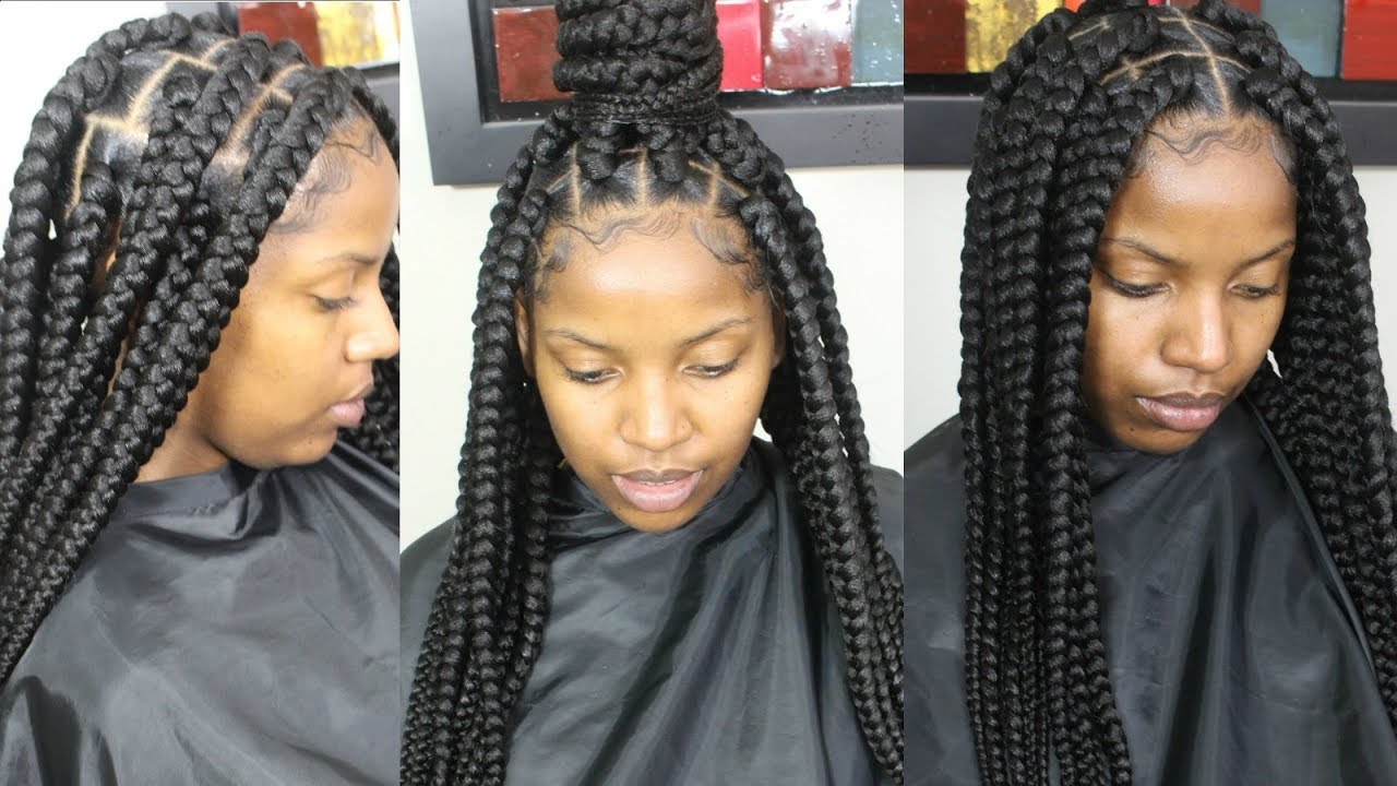 Jumbo Box Braids Tutorial Youtube