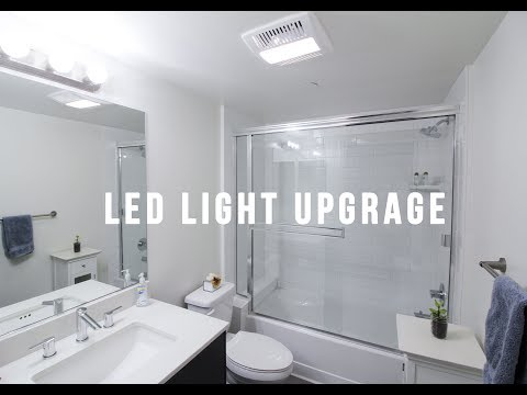 LED LIGHT UPGRADE - BATHROOM
