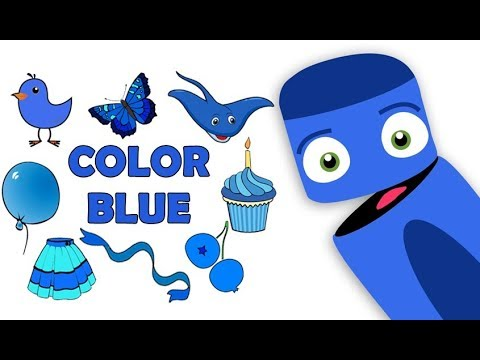 Learning Colors Games | Color Blue | For Kids | Preschool Learning - Games  For Childrens