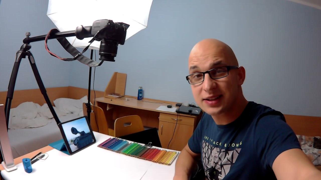 Jak wygląda moje studio nagrań i realizacja rysunków ?