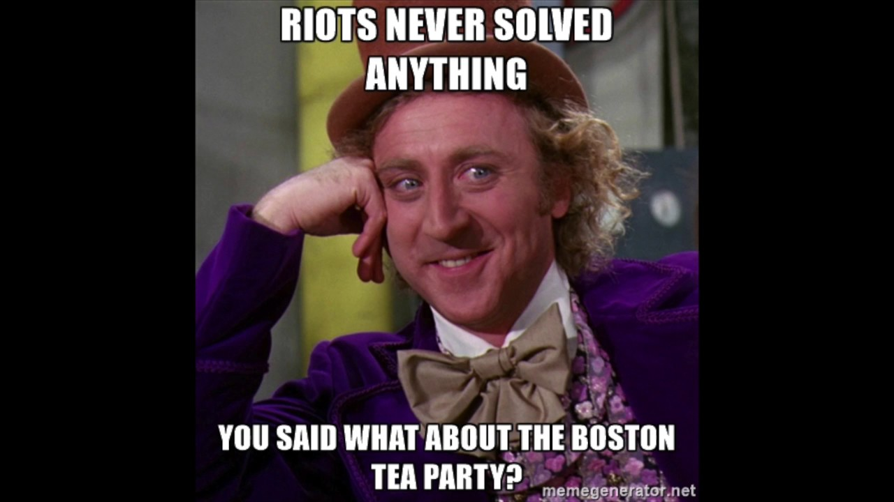 The Boston Tea Party as described by memes - YouTube