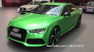 Audi Forum Neckarsulm - Audi RS7 Apple Green(, 2015-12-06T04:30:01.000Z)