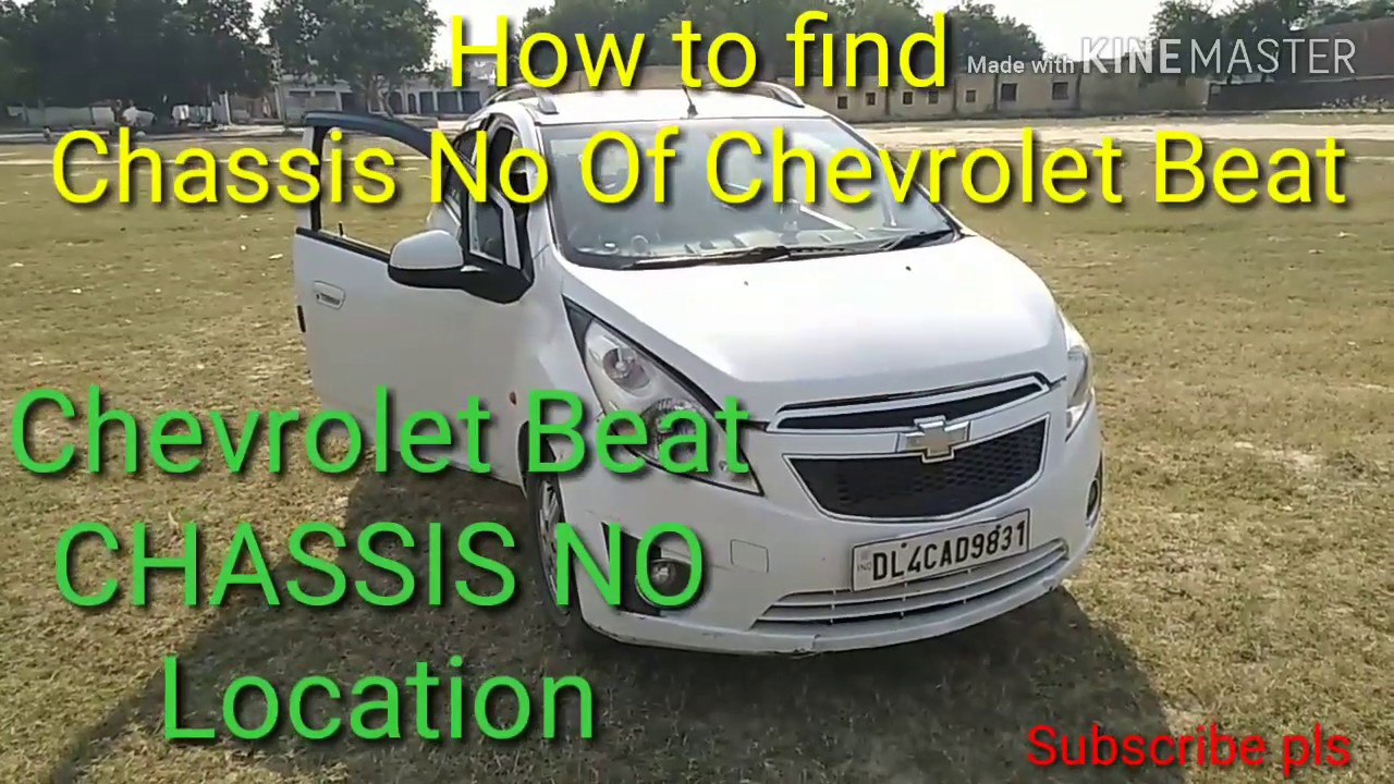 Chevrolet Beat Chassis No And Engine No Location Youtube