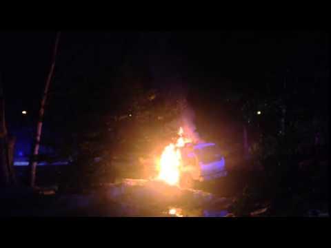 A truck fire in Washington Township.