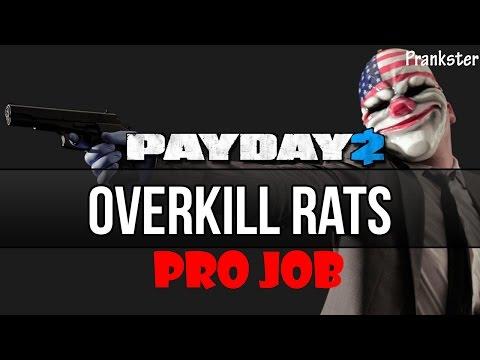 Прохождение PAYDAY 2: RATS PRO JOB (overkill) [в одиночку]