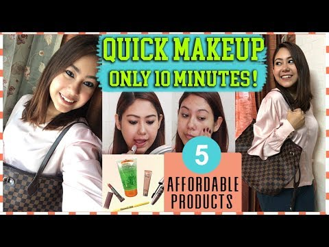 HOW TO: Office/College Makeup Under 10 Minutes |QUICK EVERYDAY MAKEUP LOOK WITH AFFORDABLE PRODUCTS! thumbnail