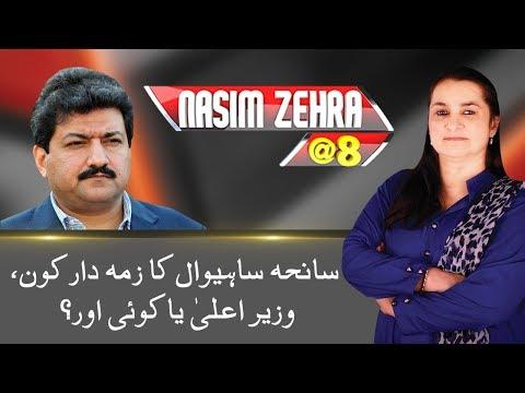Hamid Mir Big Statement On Fake FIR In Sahiwal Operation   Nasim Zehra @ 8   24 News HD