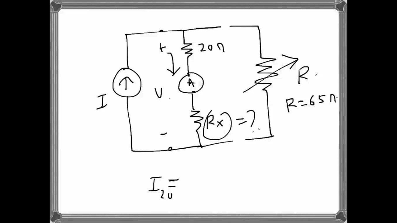 Electrical Engg Ammeter Reading Problem Example
