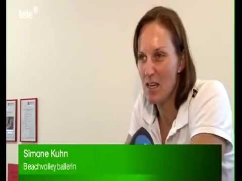 Beachvolleyball Krafttraining - Patrick Heuscher und Simone Kühn in MTC Pieter Keulen