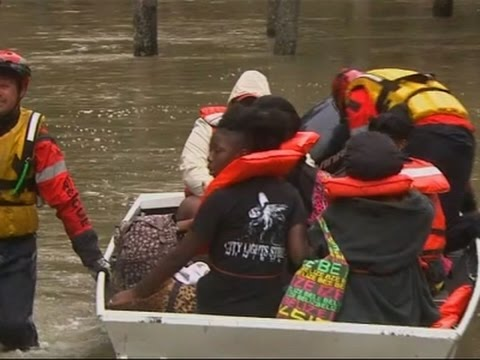 Raw: More Flood Rescues in Houston