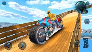 Moto Spider Vertical Ramp Jump Bike Racing Game #Motor Cycle #Games for Android