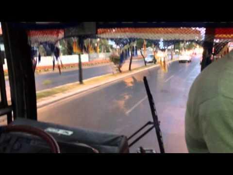 Dangerous bus to the airport in Asuncion Paraguay Part 1
