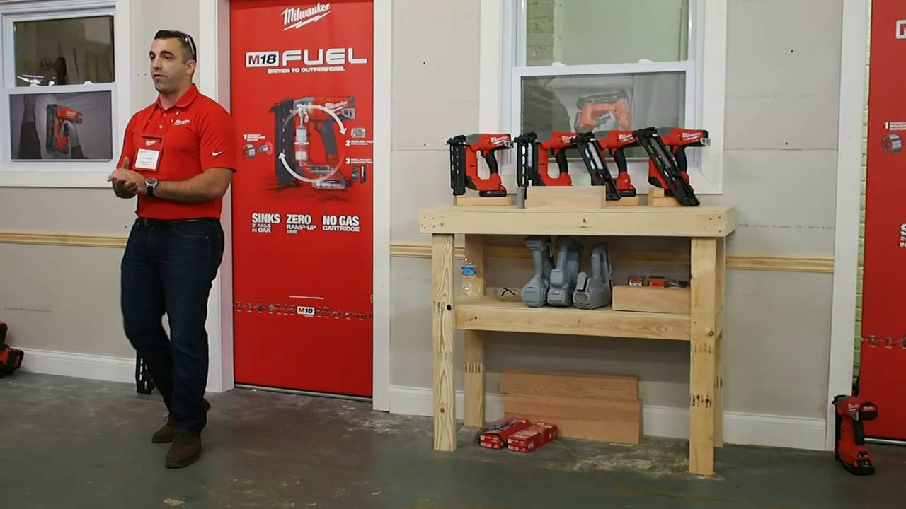 milwaukee tool m18 fuel nailers first look