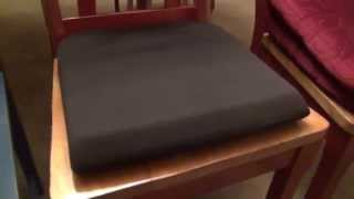 Kensington Memory Foam Seat Cushion Review Youtube