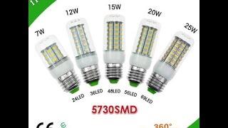 Обзор Светодиодных ламп 25w Цоколем E27