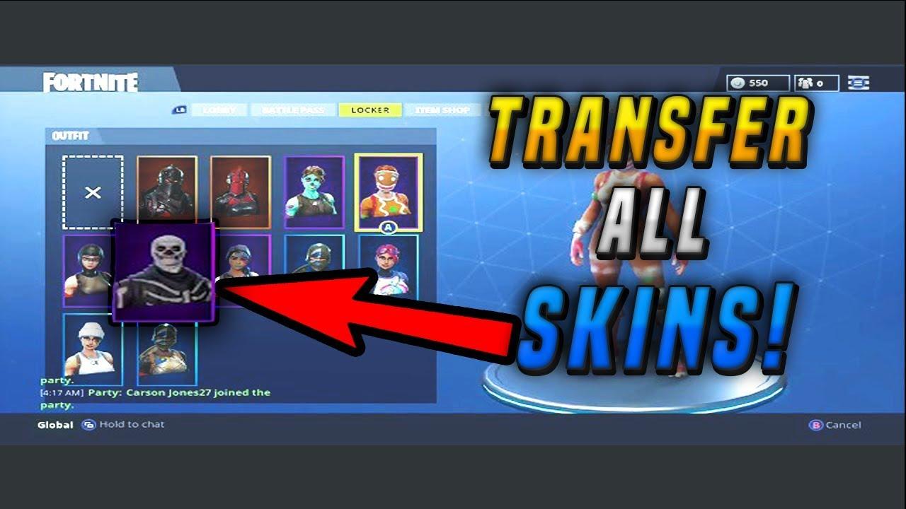 new fortnite skin transfer glitch get the skeleton trooper free - fortnite transfer skin glitch