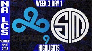 Video C9 vs TSM Highlights | NA LCS Summer 2018 Week 3 Day 1 | Cloud 9 vs Team Solomid download MP3, 3GP, MP4, WEBM, AVI, FLV Juli 2018