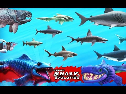 Hungry Shark Evolution - Updated All Sharks Montage