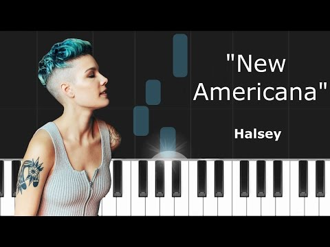 """Halsey - """"New Americana"""" Piano Tutorial - Chords - How To Play - Cover"""