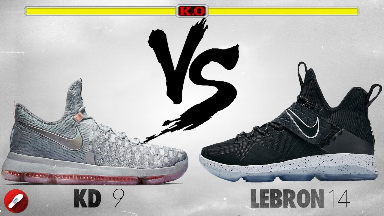 detailed look 60948 308b9 Nike Kd 9 vs Lebron 14!