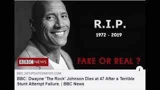BBC: Dwayne 'The Rock' Johnson Dies at 47 After a Terrible Stunt Attempt Failure
