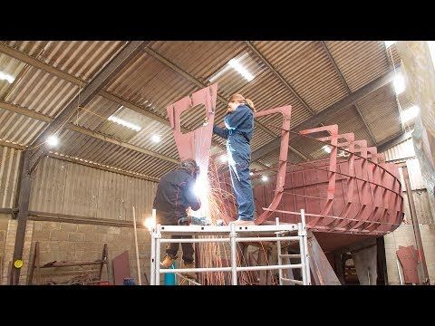 Our Steel Boat Building Project - A Tour and Timelapse of Construction