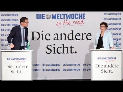 Weltwoche on the Road: Anita Fetz & Roger Köppel