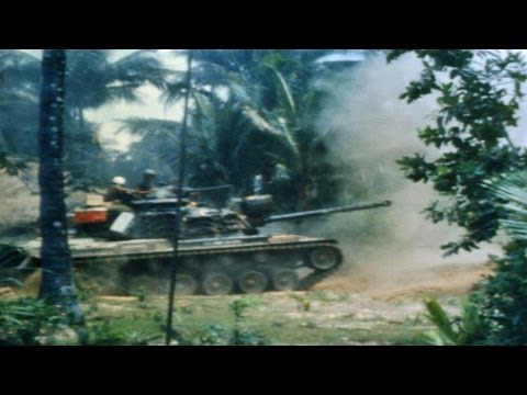 HD Historic Archival Stock Footage Vietnam War 1968 Search of Villagers | 1st Bn., 50th Inf