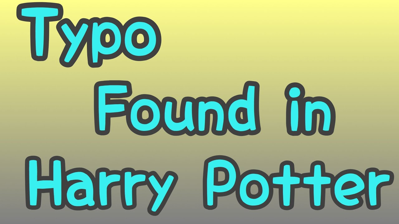 Harry Potter Book With Typo ~ Typo found in harry potter st edition worth £