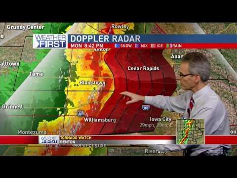 Cedar Rapids Severe Weather Coverage - 3/6/17