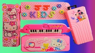 Hello Kitty Beautiful Pencil Box with Piano Toy, Password Lock Pencil Box, Pencil Box for Girls