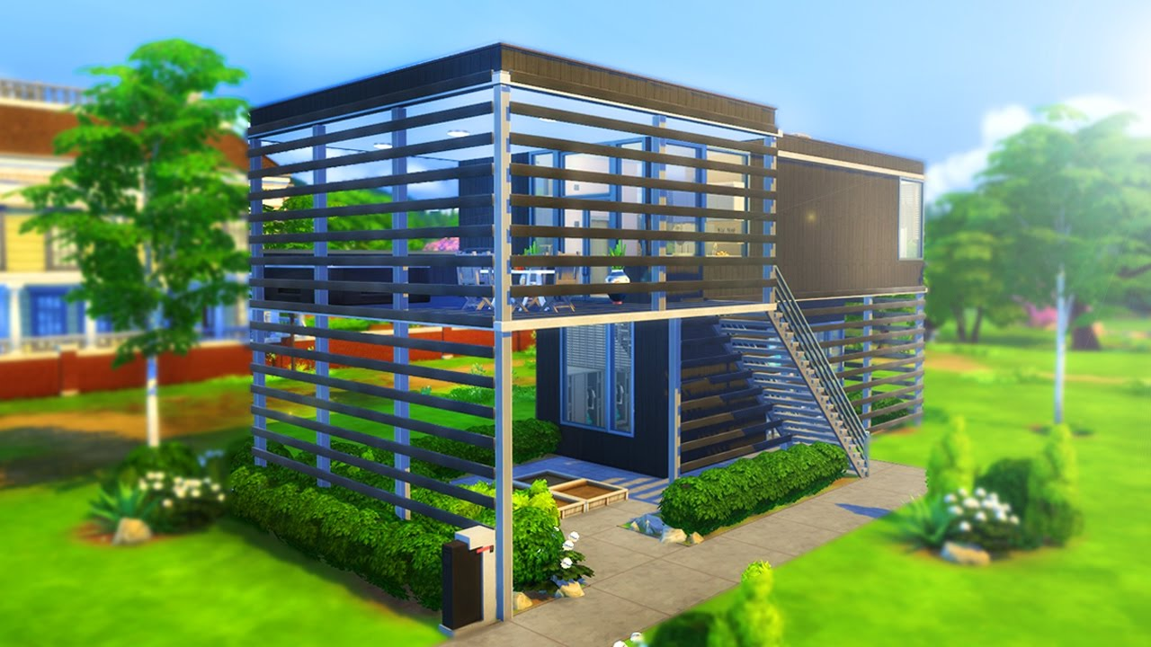 Modern elevated family home the sims 4 building youtube for Build a modern home for 200k
