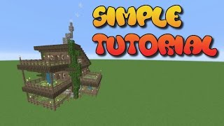 MINECRAFT TUTORIAL:  HOW TO BUILD A HOUSE IN MINECRAFT | MINECRAFT COTTAGE | EFFICIENT FARMING HOUSE