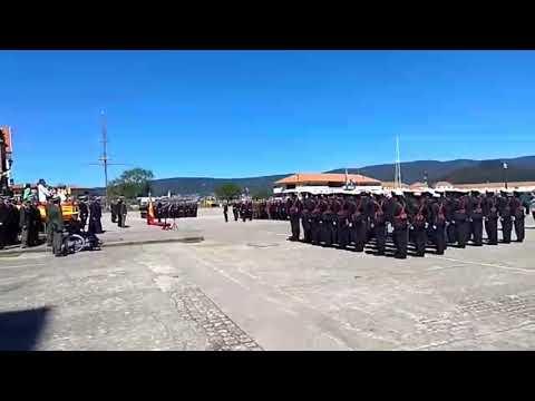 Recibimiento de la Escuela Naval a Ignacio Cuartero y a la brigada de 1979