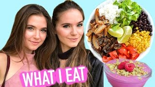 WHAT I EAT IN A DAY - Easy & Vegan - Nina and Randa